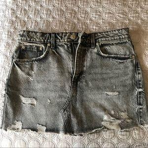 Zara gray denim mini skirt